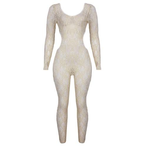 Biege Lacey Jumpsuit