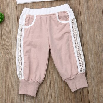 Cute Baby Girl (Toddlers) Crop Top and Track-Pant