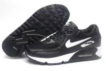 AM 95 Black White Running Sneakers