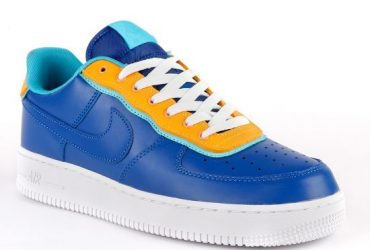 N A F 1 07 Patent RoyalBlue White and yellow Casual Sneakerboots