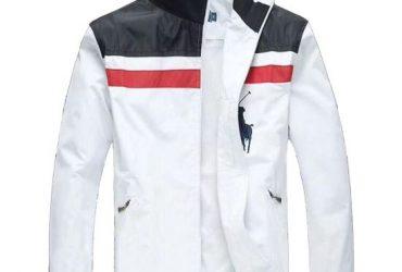 PRL Men's NavyBlue White Longsleeves Track Jacket