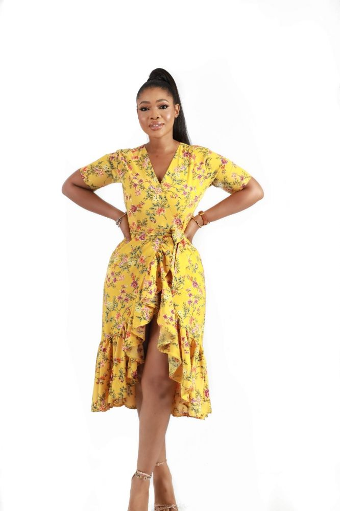 Sheweng Floral Print Wrap Dress