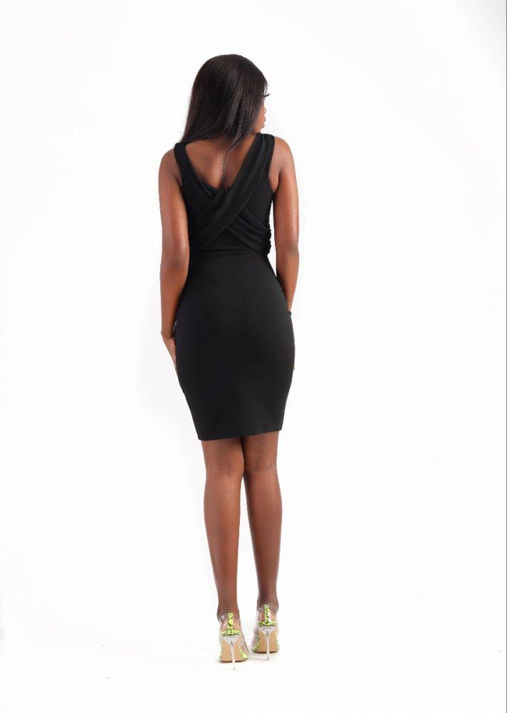 Mesh Detail Mini Dress