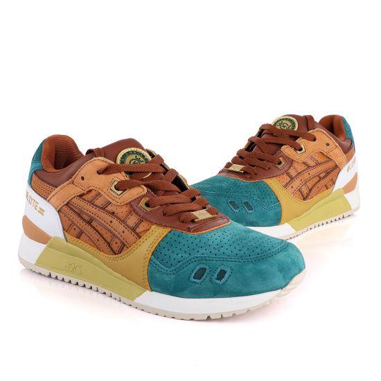 Asicstiger Gel – Lyte III Green Brown Gold Men's Sneakers