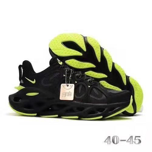 NAM 2019 Men Running Black and Lemon Sneakers