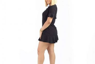Frill Detail Peplum Dress