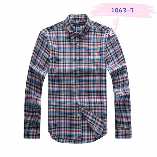 PRL Men's Multi-Color Checkered Button-Down Long Sleeve Shirt