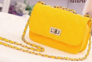 Cross Body Chain Shoulder Purse – Yellow