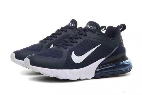 Max 270 Navy Blue White Men's Running Shoes