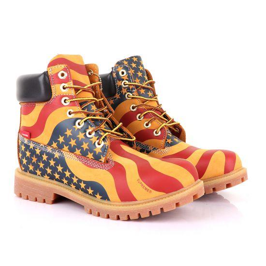 Supreme Timberland Limited Edition Usa Brown Hightop boots