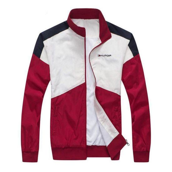Tommy Hilfiger Front Design White And Red Tracksuit