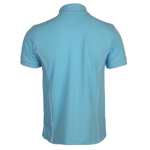 No Problem Men Polo Shirt In Turquoise Blue