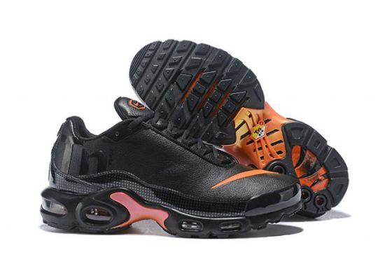 N A M Plus Tn Mercurial SE BG GS Black Orange Silver Trainers Running Sneakers