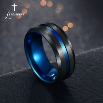 Colored Stainless Steel Groove Rings