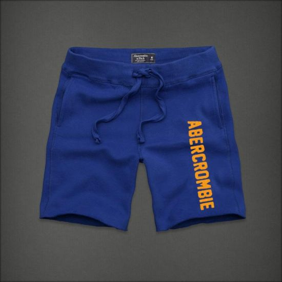 Abercrombie And Fitch With Yellow Designer Side Logo Men's Short -Royal Blue