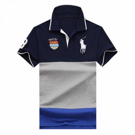 Rl Custom Fit Big Pony Polo Rl- Navyblue