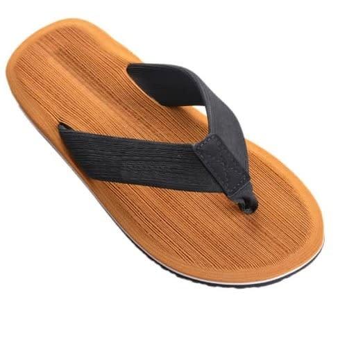 Shoppaholic Athletic Thong Slippers – Brown