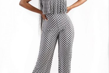 Polka Dot Cape Jumpsuit