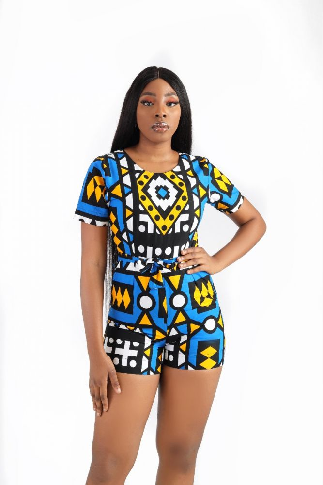 Signature Ankara Print Playsuit