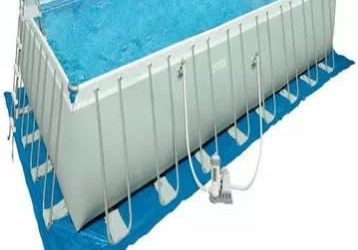 Intex 24ft X 10ft Mobile Swimming Pool With Complete Accessories