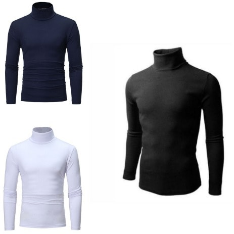 3 In 1 Set Of Men Turtle Neck Polo