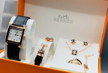 Hermes Female Watch and Bangle Set