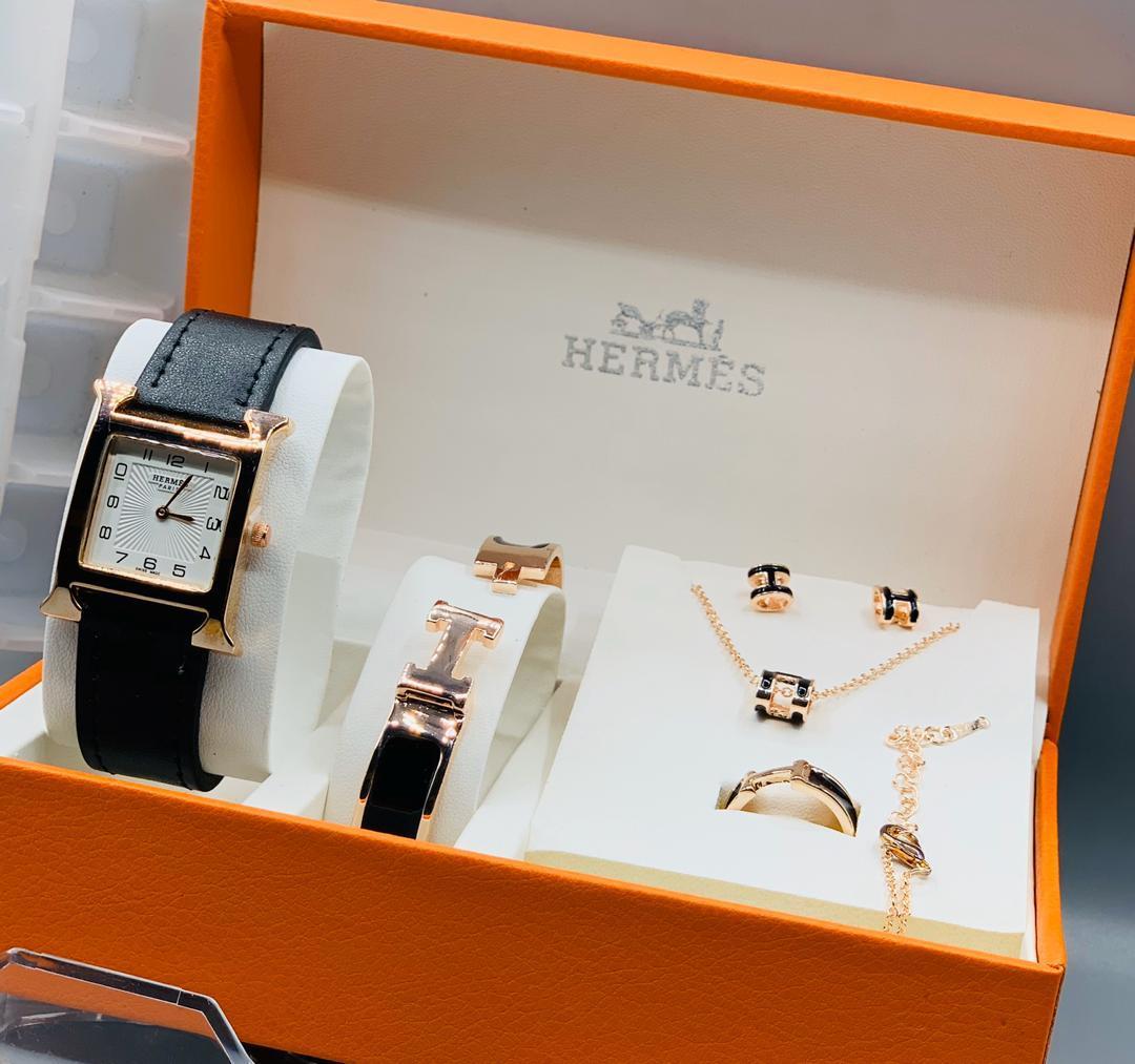 Hermes Female Watch and Bangle Set