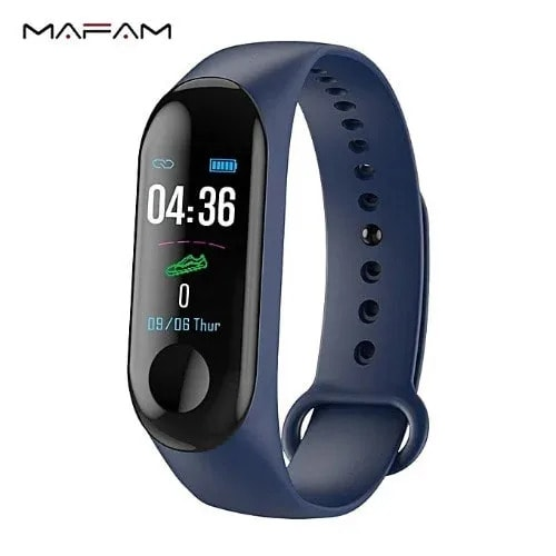 M3 Smart Bracelet Fitness Tracker Heart Rate Monitor Waterproof Bracelet Band Deep Blue