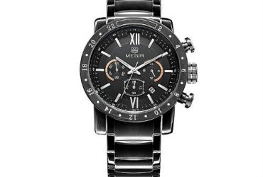 MEGIR Fashion Quartz Watches Men Waterproof Watchwatch – Black