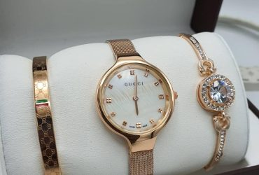 Gucci Female Watch and Bangle set
