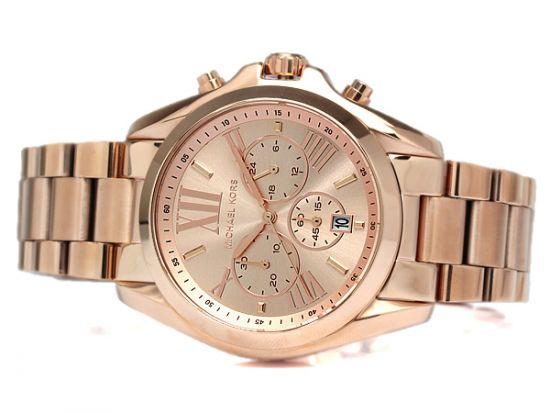 Michael Kors Bradshaw Oversize Chronograph Rose Gold Tone Unisex Watch MK5503