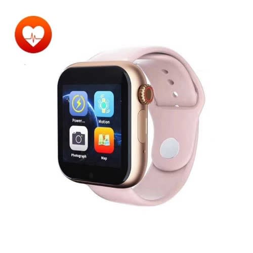 Recorder Smart Watch With Heart Rate Monitor -Message Notifier -Z6S- Gold