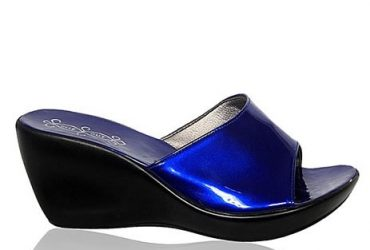 Fashion By LV Ladies Wedge Shoe- Blue