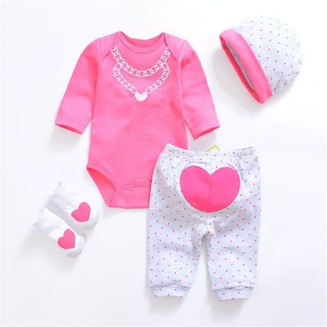 Unisex Baby Long Sleeve Rompers and pants