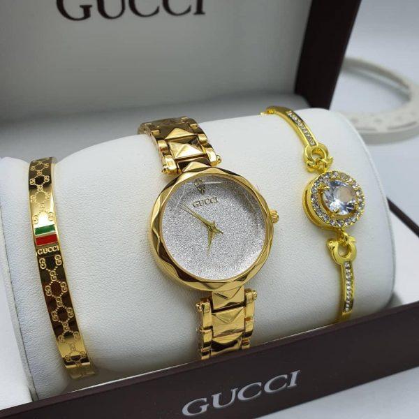 Gucci Female Watch and Bangle set
