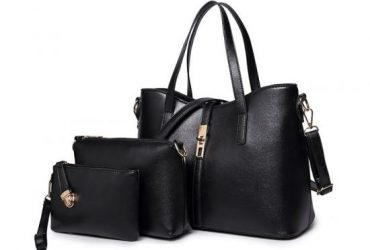 Classic Leather Detachable 3 in 1 Strap Woman Black Handbag