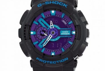 Casio G-Shock Black GA110HC-1A Purple Dial
