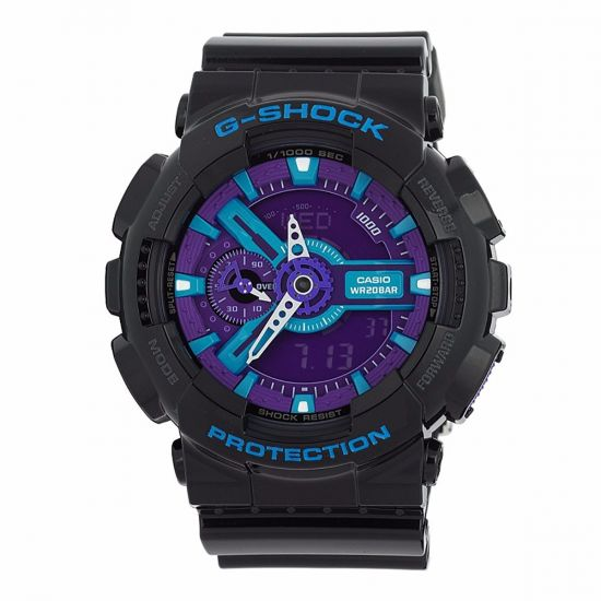 Casio G-Shock Black GA110HC-1A Purple Dial