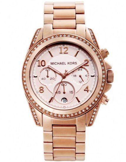 Michael Kors MK5263 Unisex Blair Rose Gold Tone Chronograph Watch