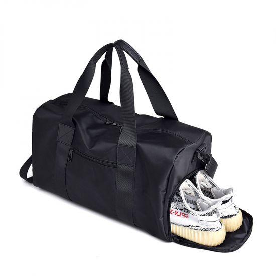 Crossbody Multi Pocket Water Resistant Large Capacity Luggage Black Bag