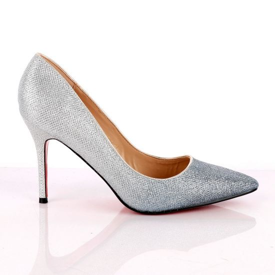 Atmosphere Silver Shiny Women's High Heel Shoe