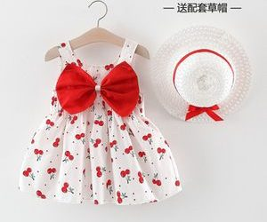 Cherry-pattern-girl-dress