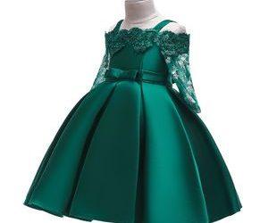 lace-leaky-shoulder-wedding-dinner dress