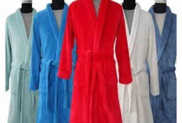 Unisex Long Sleeve Bath Robe