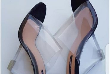 Transparent Wedge Slippers