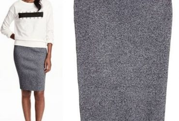 H & M Women's Skirt – Grey
