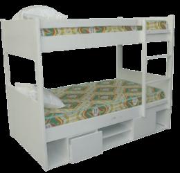 STORAGE WOODEN BUNK BED (3 X 6FT)
