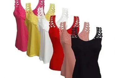 Ladies Camisoles – Multicolor – 6 In 1