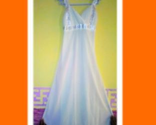 Beautiful Milk Coloured Dinner Gown
