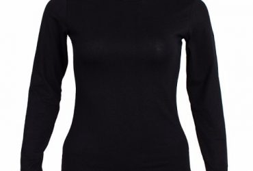 Fitted Turtle Neck Top with Sleeves